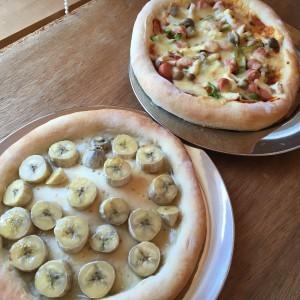 バナナのピザ